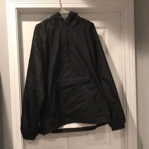 Charles River Black Wind Breaker/Rain Jacket XL